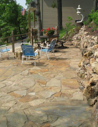 nice stone patio