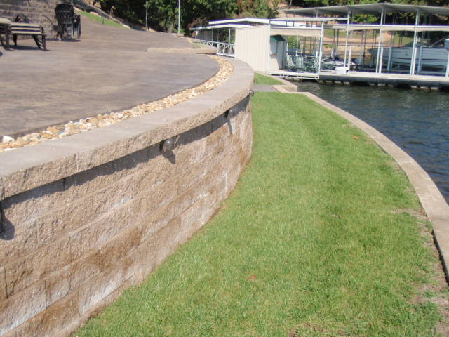lakefront retaining wall